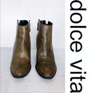🔥SALE dolce Vita distress olive leather booties